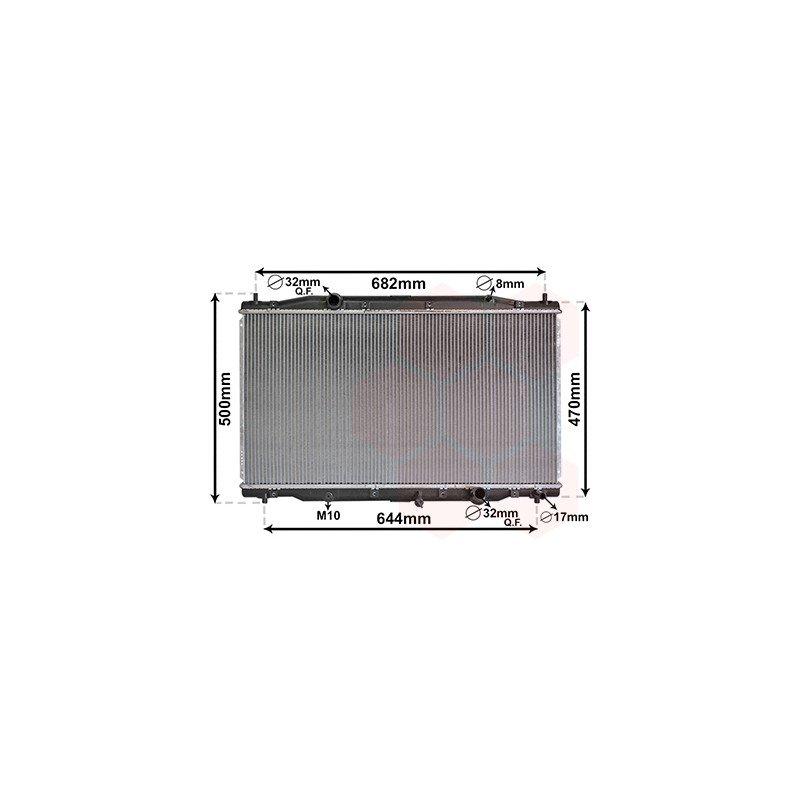 radiateur de refroidissement moteur diesel pour honda crv de 2007 2012 version 2 2cdti boite. Black Bedroom Furniture Sets. Home Design Ideas