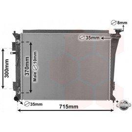 Radiateur essence pour Hyundai I40 2.0i boite automatique de 2011 à 2015
