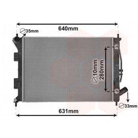 Radiateur essence pour Kia Ceed version 1.6i CVVT boite automatique de 2012 à 2015