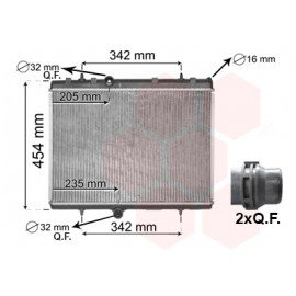 Radiateur moteur essence pour Citroen DS4 double QF connexion version 1.2i / 1.6VTi de mai 2011 à 2015