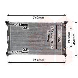 Radiateur essence pour Seat Exeo de2009 à 2013 version 2.0i climatisée boite automatique
