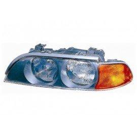 Phare gauche H7+HB3 avec feu de direction orange, pour BMW serie 5 E39 d'avant sept 2000