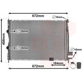 Radiateur moteur Diesel pour Nissan Qashqai de 2010 à 2014 version 2.0 DCi