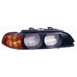Verre exterieur de Phare droit H7+HB3, Feu de direction orange pour BMW serie 5 E39 d'avant sept 2000