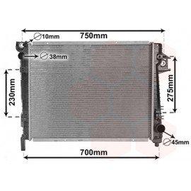 Radiateur moteur essence pour Dodge PickUp Ram de 2002 à 2003 version 3.7 / 4.7