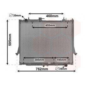 Radiateur moteur diesel pour Isuzu D-max depuis 2012 version 2.5 CRDi