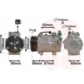 Compresseur de climatisation pour Volvo C30 de nov 2009 à 2013 version 1.6 D2 vin : 266903-299999
