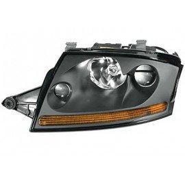 Phare double avant gauche Xenon titane avec projecteur anti-brouillard sans lampe à décharge avec moteur sans stabilisateur pour