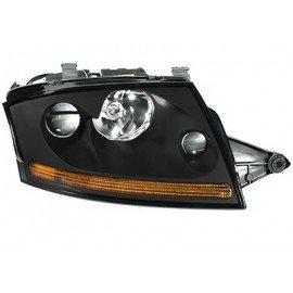 Phare double avant droit Xenon noir avec projecteur anti-brouillard sans lampe à décharge avec moteur et sans stabilisateur pour