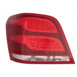 Feu arrière gauche sans porte ampoule avec clignotant rouge et jaune, sans partie électrique pour Mercedes GLK X204 de 2012 à 20
