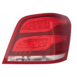 Feu arrière droit sans porte ampoule avec clignotant rouge et jaune, sans partie électrique pour Mercedes GLK X204 de 2012 à 201