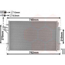 Condenseur de climatisation pour Hyundai Genesis Coupé à partir de 2012 version : 2.0