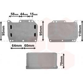 Radiateur d'huile pour moteur 2.3 CDTI pour Renault Trafic (09/2006 - 2014)