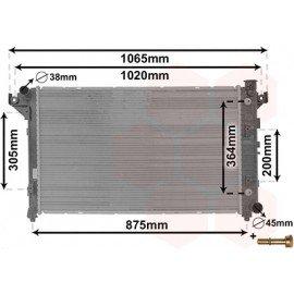 Radiateur moteur essence pour Dodge Pickup Ram (1994 - 2002) version 3.9 / 5.2 / 5.9