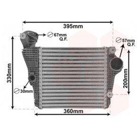 Intercooler gauche pour Porsche Macan version 3.0 S / 3.0 GTS / 3.6 Turbo (depuis 02/2014)