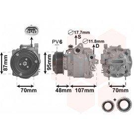 Compresseur d'air conditionné pour Chevrolet Trax 1.4i / 1.7Cdti (depuis 01/2013)