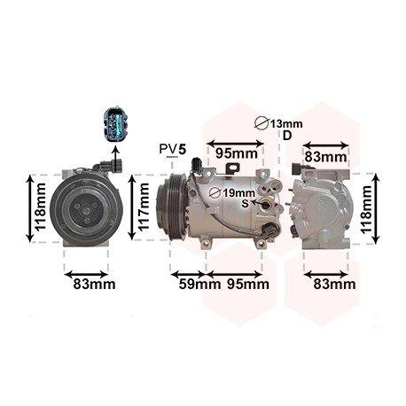 Compresseur d'air conditionné pour Kia Picanto (05/2011 - 2017)