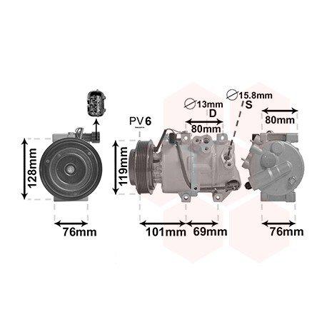 Compresseur d'air conditionné pour Hyundai iX35 version 2.0i type DooWon (04/2010 - 2015)