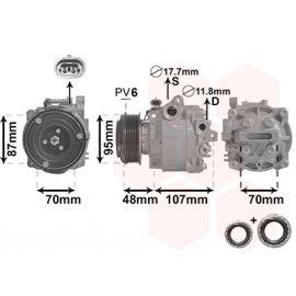 Compresseur d'air conditionné pour Chevrolet Trax 1.6i / 1.8i (depuis 01/2013)