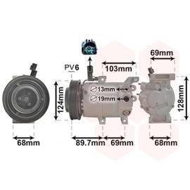 Compresseur d'air conditionné pour Hyundai iX20 version 1.4i / 1.6i type HCC (11/2010 - 2015)