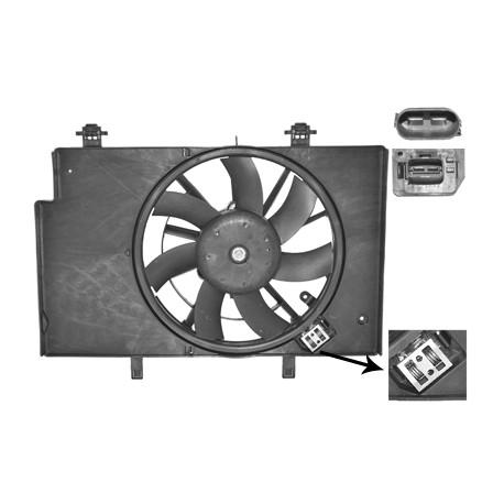 Hélice de ventilateur avec moteur pour Ford B-Max depuis oct 2012 version 1.5 / 1.6 / 1.6TDCi avec clim