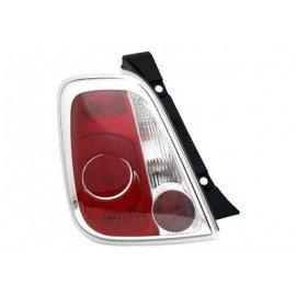 Feu arrière gauche sans partie électrique pour Fiat 500 de 2007 à 2015 (sauf cabriolet)