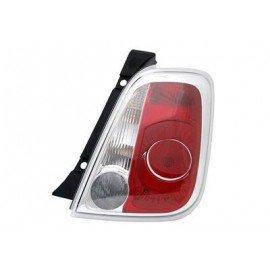 Feu arrière droit sans partie électrique pour Fiat 500 de 2007 à 2015 (sauf cabriolet)