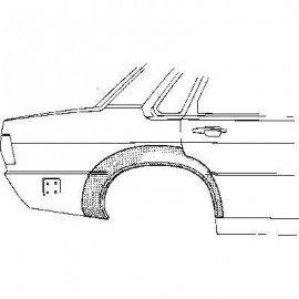 Arc d'aile arrière droit pour Audi 80